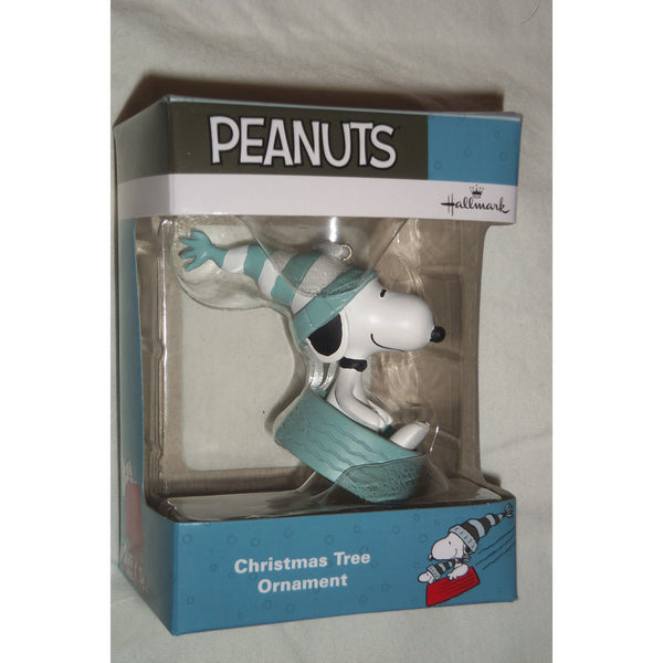 Hallmark Peanuts Winter Fun Snoopy Sledding In Bowl Ornament 2017