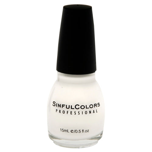 Sinful Colors Professional Nail Polish 101 SNOW ME WHITE .5 Fl Oz