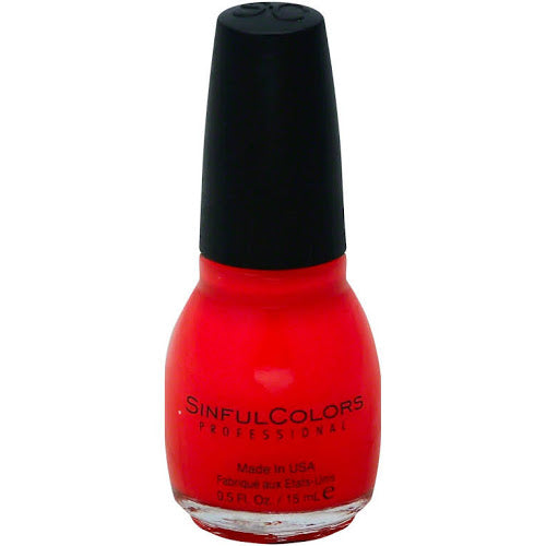 Sinful Colors Professional Nail Polish 1122 ENERGETIC RED .5 Fl Oz