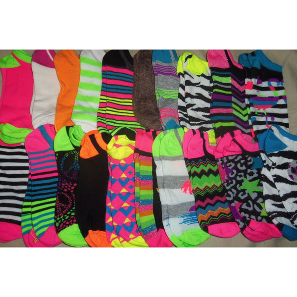 12 Pair Random Assorted Mix and Match Women Size 9-11 Ankle Socks