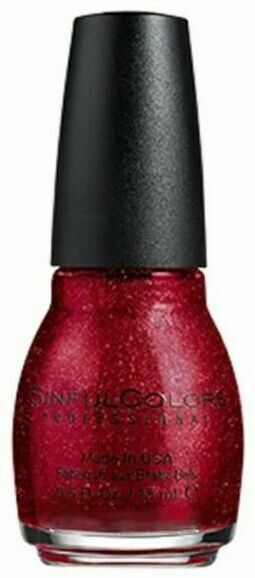 Sinful Colors Professional Nail Polish 1300 RUBY GLISTEN .5 Fl Oz
