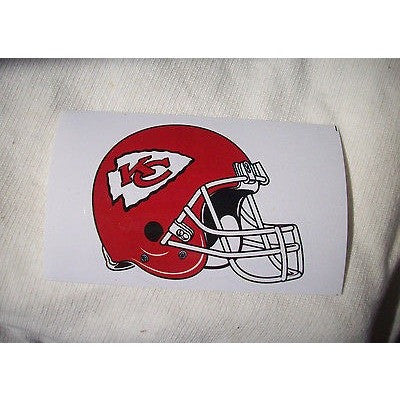 2 NFL Kansas City Chiefs Team Logo on Helmet Shaped Paper Sticker #16