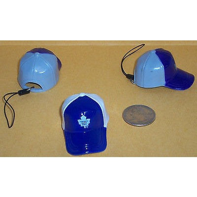 "NHL Toronto Maple Leafs Key Chain Key Ring Keyring 2"" Mini Hat 2-Tone Plastic Cap"