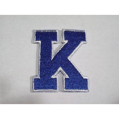 "NCAA Kentucky Wildcats 2"" Wide 2.25"" Tall Letter 'K' Iron-on Patch"