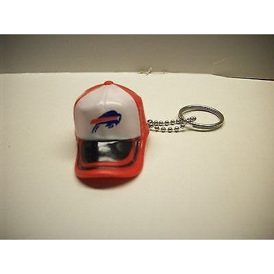 "NFL Buffalo Bills Key Chain Key Ring Keyring 2"" Mini Hat 2-Tone Plastic Cap"