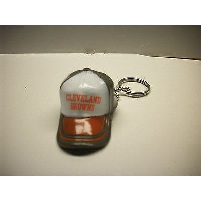 "NFL Cleveland Browns Key Chain Key Ring Keyring 2"" Mini Hat 2-Tone Plastic Cap"