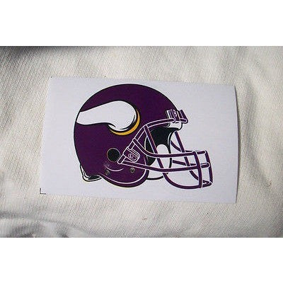 2 NFL Minnesota Vikings Team Logo on Helmet Shaped Paper Sticker #18