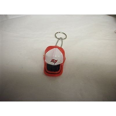 "NFL Tampa Bay Buccaneers Key Chain Key Ring Keyring 2"" Mini Hat 2-Tone Plastic Cap"
