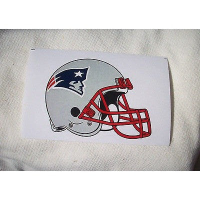 2 NFL New England Patriots Team Logo on Helmet Shaped Paper Sticker #19