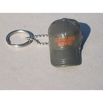 "NFL Cleveland Browns Key chain Key Ring Keyring 2"" Mini Hat Solid Color Plastic Cap"