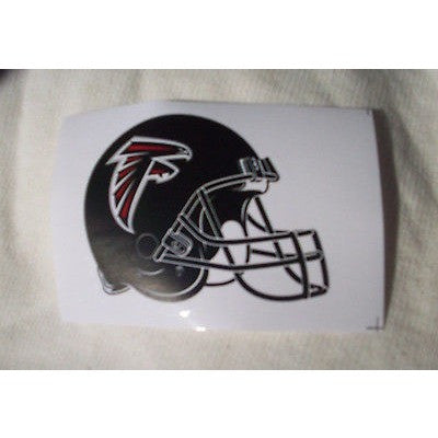 2 NFL Atlanta Falcons Paper Stickers Team Logo on Helmet Shaped #2