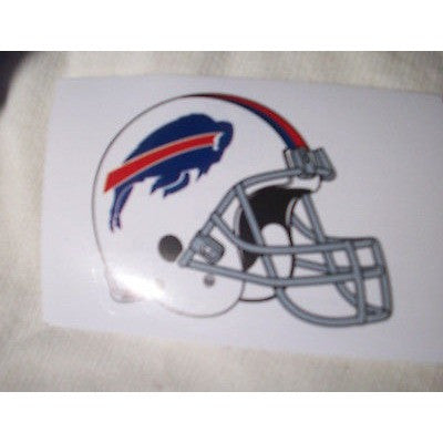 2 NFL Buffalo Bills Paper Stickers Team Logo on Helmet Shaped #4