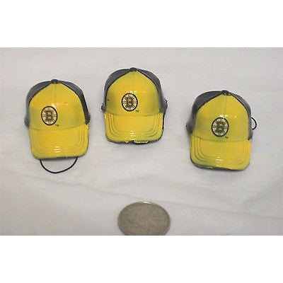 "NHL Boston Bruins Key Chain Key Ring Keyring 2"" Mini Hat 2-Tone Plastic Cap"