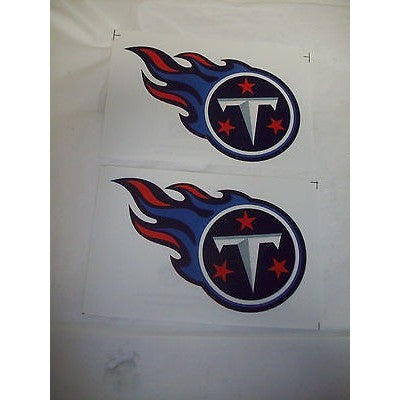 2 NFL Tennessee Titans Team Logo in Full Color & Shape Paper Sticker #31