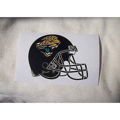 2 NFL Jacksonville Jaguars Team Logo on Helmet Shaped Paper Sticker #15