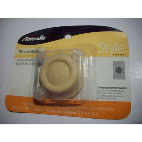 Lot of 12 Replacement Unfinished Solid Oak Dimmer Knob Model #947UN By Amerelle