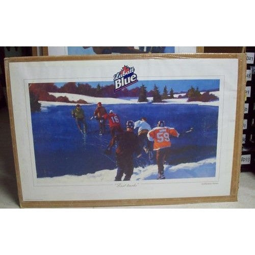 "2005 Labatt Blue Collectors Series Poster ""First Tracks"" 34""W x 22""H"
