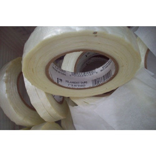 "1 (Single) Roll 1"" X 60 Yards FILAMENTS STRAPPING Tape"