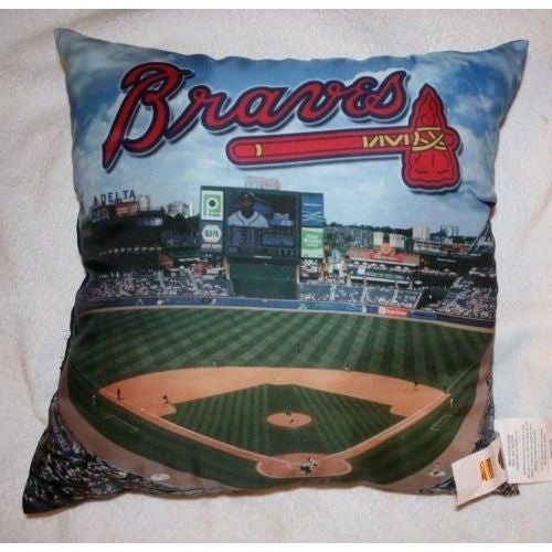 "MLB Atlanta Braves Photo Realistic Stadium Dye Sublimation 18""x18"" Pillow"