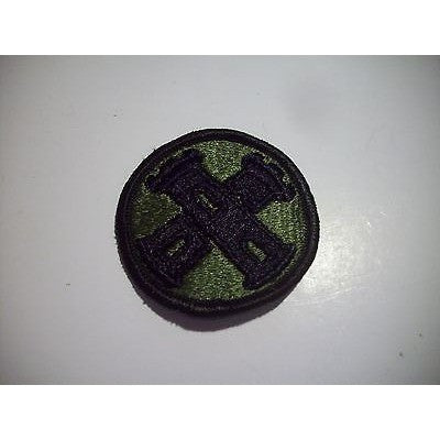 "16th Engineer Brigade Military Patch Foliage Green 2 1/4"" Round Patch Iron-On"