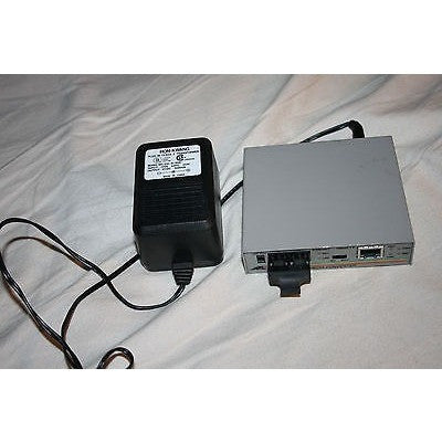 Allied Telesyn ATI MC14 AT-MC14 Ethernet Media Converter w/ AC Adapter