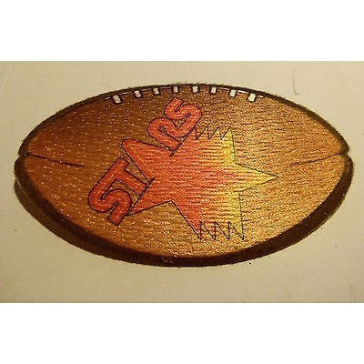 "USFL Baltimore Stars Patch Iron-On 4"" Oval Velvet Football"