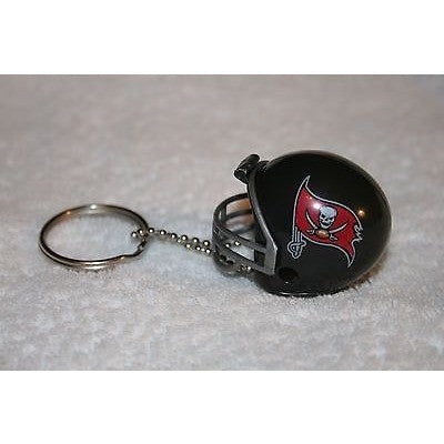 "NFL Tampa Bay Buccaneers 1 1/2"" Mini Plastic Helmet Pencil Topper Key Chain"