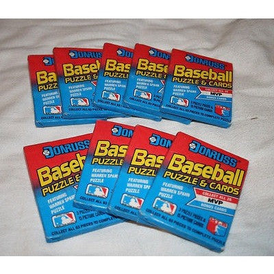 Lot of 10 Factory Sealed Unopened 1989 MLB Donruss Baseball Wax Packs