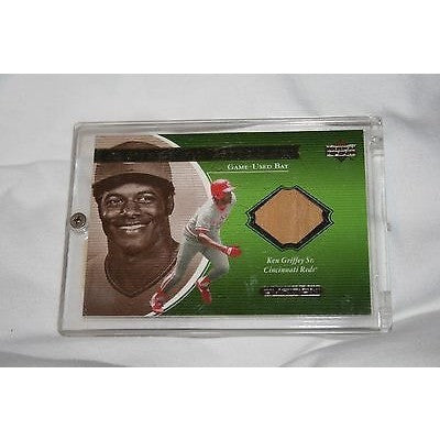 MLB Ken Griffey Sr. 2001 Upper Deck A Piece of History Game-Used Bat Card KGs