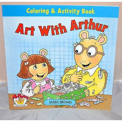Art With Arthur Coloring And Activity Book 2002 Advance Publishers Marc Brown