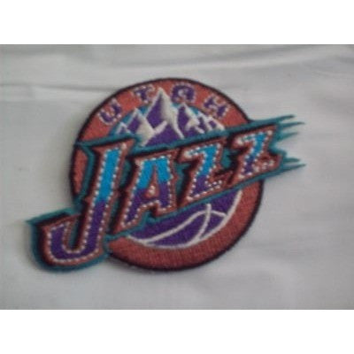 "NBA Utah Jazz 1996 to 2004 Primary Logo Embroidered 2 1/2"" by 2"" Iron-on Patch"