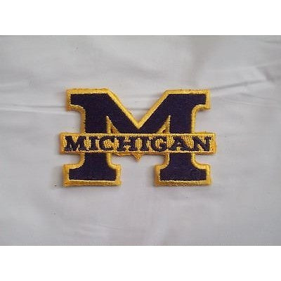 "Michigan Wolverines 96-11 Primary Logo 2 3/4"" W 1 6/8"" T Iron on Patch"