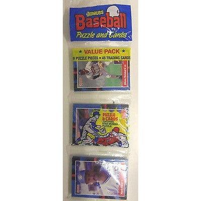 1988 MLB DONRUSS PUZZLE & CARDS VALUE PACK 45 CARDS 9 PUZZLE CARDS