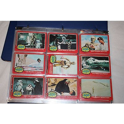1977 Star Wars Complete Set of 330 Trading Cards 55 Sticker 1 Wrapper GD/EX