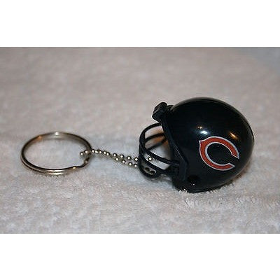 "NFLChicago Bears 1 1/2"" Mini Plastic Helmet Pencil Topper Key Chain with Ring"