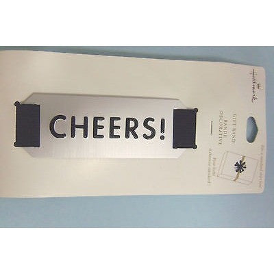 HALLMARK CHEERS GIFT BAND  FITS A STANDARD SIZE SHIRT BOX