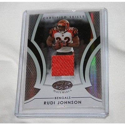 2007 NFL Rudi Johnson Leaf Certified Certified Skills Materials Jersey 018 /100 Card