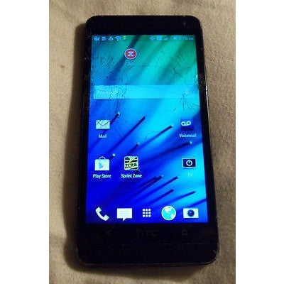 HTC PN072 32GB Sprint Black Cracked Screen Lcd Touch & Phone Works Phone Only