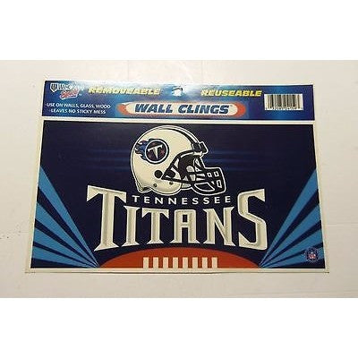 NFL Tennessee Titans Reusable Static Window/Wall Cling
