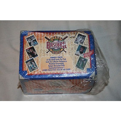 1992 Upper Deck MLB 27 Card JUMBO Wax Pack 20 Pack Box Shows Ware