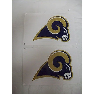 2 NFL Los Angeles Rams Team Logo in Full Color & Shape Paper Sticker #29