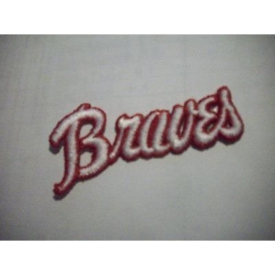 "MLB Atlanta Braves 1972-1975 Jersey Logo 3 ¾"" x 1 ¾"" Iron-On Patch"