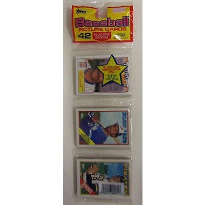 1988 MLB TOPPS BASEBALL CELLO OF 45 TRADING CARDS