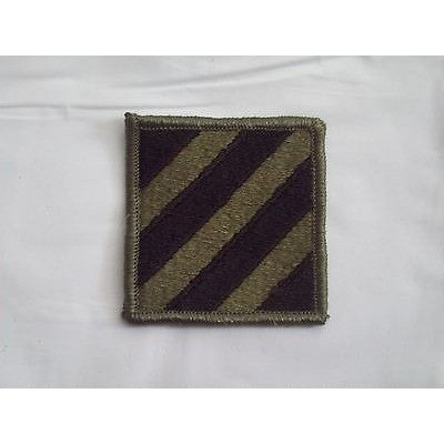"3rd Infantry Division Army Subdued Shoulder Sleeve Insignia Patch 2 1/8"" Iron-On"
