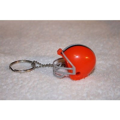 "NFL Cleveland Browns 1 1/2"" Mini Plastic Helmet Pencil Topper Key Chain Key Ring"