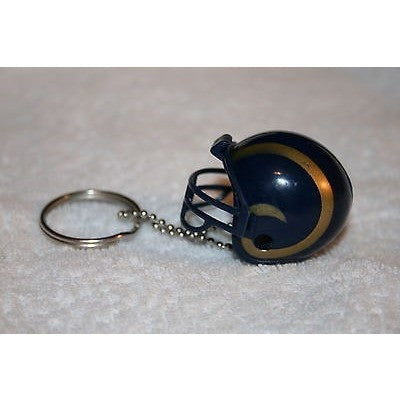 "NFL Los Angeles Rams 1 1/2"" Mini Plastic Helmet Pencil Topper Key Chain Key Ring1 1/2"" Mini Plastic Helmet Pencil Topper Key Chain Key Ring"