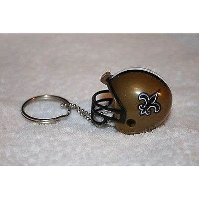 "NFL New Orleans Saints 1.5"" Mini Plastic Helmet Pencil Topper Key Chain Key Ring"