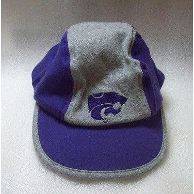 Kansas State Wildcats Logo on Toddler Purple & Gray Painters Cap Hat Adjustable