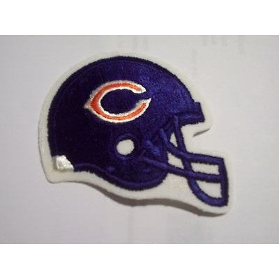 17e776d885b651 NFL Chicago Bears Embroidered Helmet on Felt 3 1/4