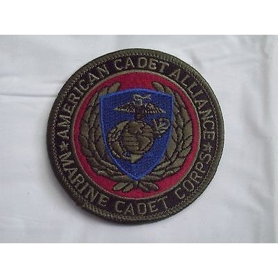 "American Cadet Alliance Marine Cadet Corps 3"" Round Patch Iron-On"